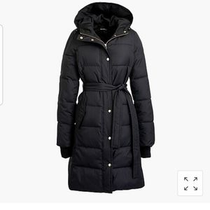 NWT J crew long  puffer jacket